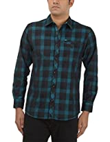 King Richard Men's Casual Shirt (AYK20_44, Dark Blue, 44)