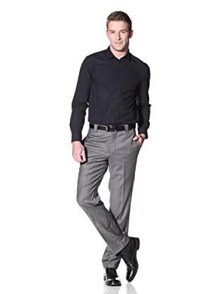 Incotex Ivory Men's Sharkskin Trousers (Mid Grey)