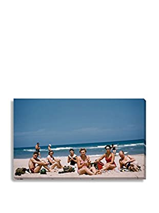 Photos.Com By Getty Images Friends Sunbathe On Beach By Frances M. Ginter On Canvas
