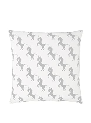 Twinkle Living Unicorns Array Pillow Cover (Grey/White)