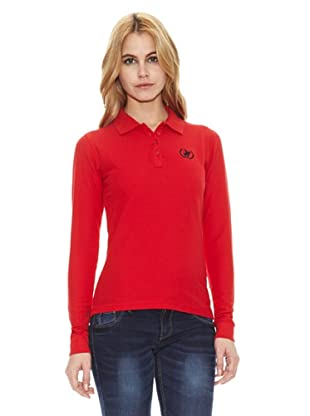 Polo Club Polo Manga Larga Custom Fit Logo Small (Rojo)