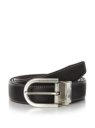 Lacoste Men's Stitched Reversible Leather Belt (Black/brown)
