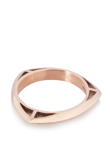Katie Rowland Lilith Tri Stacker Ring (Rosegold/Black)