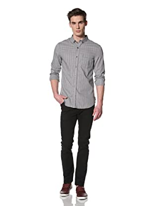 French Connection Men's Obscura Gingham Shirt (Darkest Blue)