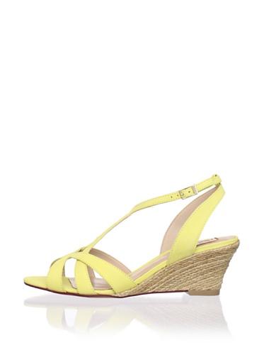 Schutz Women's Jute Demi Wedge Sandal (Sunshine)