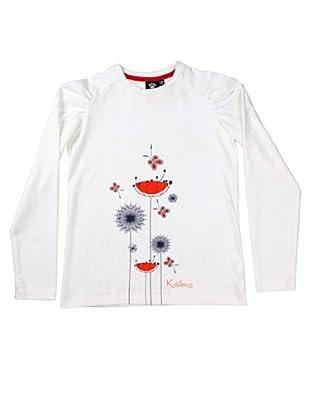 Kelme Camiseta Manga Larga Flor (Blanco)