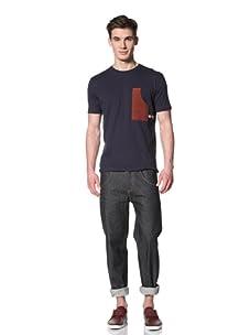 Marshall Artist Men's Carpenter Pocket T-Shirt (Navy/Burgundy)