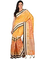 MIRA'S FASHION Women's Art Silk Saree with Blouse (Yellow)