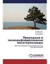 Prirodnye I Tiomodifitsirovannye Monoterpenoidy
