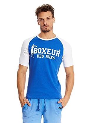 Boxeaur Des Rues T-Shirt Big Logo Raglan Contrast Col