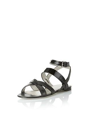 JASON WU Women's Carey Flat Sandal (Black)
