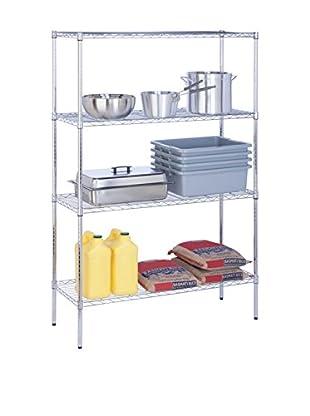Honey-Can-Do 4-Tier Shelf, Chrome