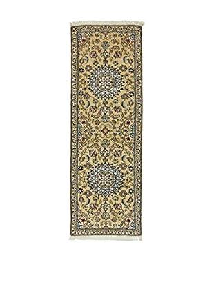 Eden Teppich Nain beige/grün/blau 193 x 65 cm