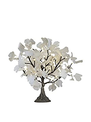 LED White Gingko Tree, Warm White Bulbs