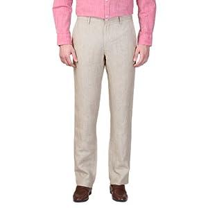 Zip Front Linen Trousers