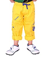 OKS Junior Yellow Cotton Printed Pant For Boys   OKJ1092YLW