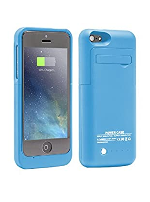 Unotec Funda Con Batería Para iPhone 5/5S/5C Powercase Azul