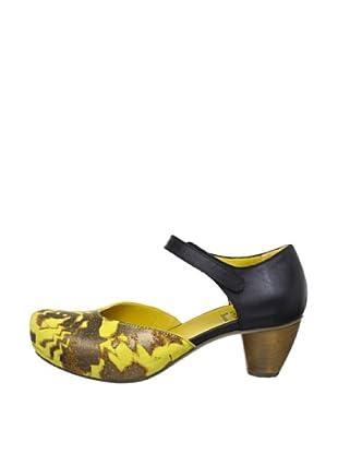 Think Sandalette Sasso (Blau/Gelb)