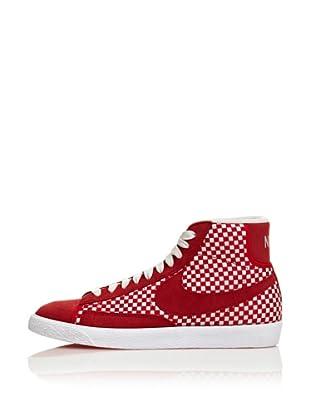 Nike Zapatillas Blazer Mid Woven (Rojo / Blanco)
