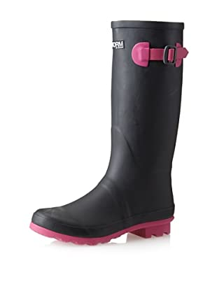 Storm by Cougar Women's Midas Rain Boot (Black/pink)