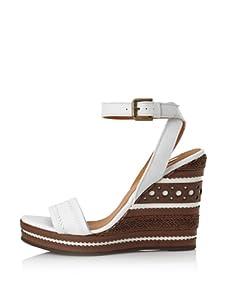 Geox Women's Peonia Wedge Sandal (White)