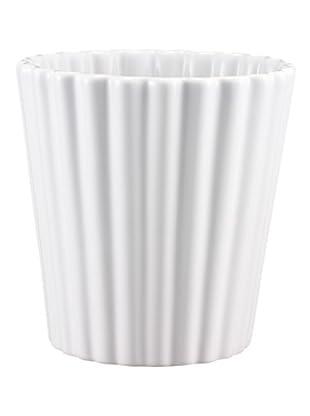Lob Design Blumentopf Cupcake weiß