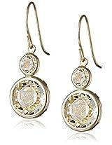 10k Gold Swarovski Elements Dangle Earrings