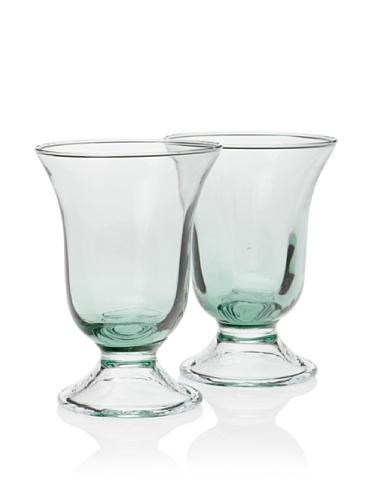 Villa d'Este Set of 2 Stem Water Glass (Green)