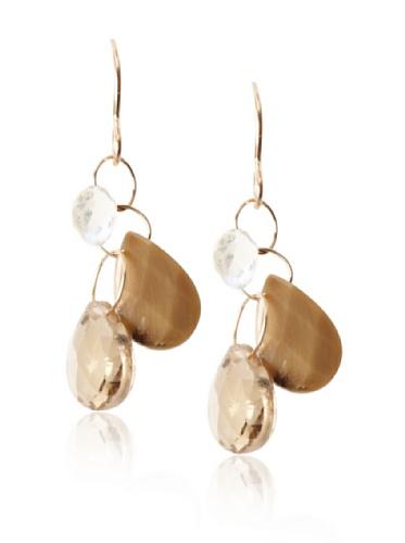 Melissa Joy Manning 14K Gold Multi-Stone Drop Earrings