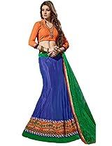 Suchi Womens Net Lehenga Dress Material (Sfran90128 _Blue _Free Size)