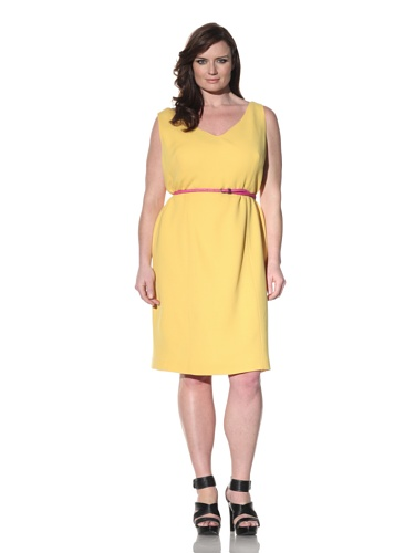 Z from Zenobia Women's Plus V-Neck Shift Dress (sunflower)