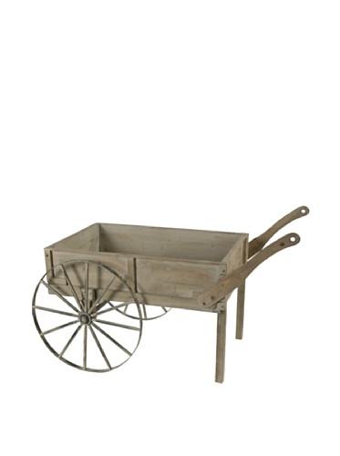 A&B Home Market Collection Wooden Garden Cart