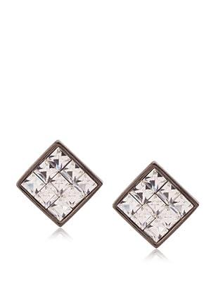 Judith Leiber Crystal Square Stud Earrings