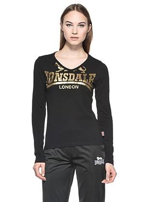 Lonsdale T-Shirt Manica Lunga Tally (Nero)
