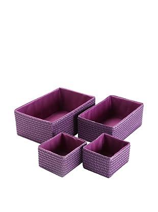 Zings Set 4 Cajas Rectangulares Violeta