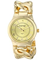 August Steiner Women's AS8112YG Swiss Quartz Diamond Gold-tone Twist Chain Bracelet Watch