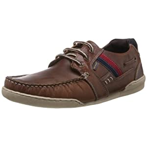 Red Tape Brown leather shoes for men