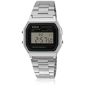 A158Wa-1Df-D011 Silver/Grey Digital Watch