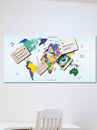 Ambiance Live Wandtattoo Magnetic Map 2 mehrfarbig