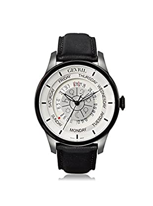 Gevril Men's 2005 Columbus Circle Black Leather Watch