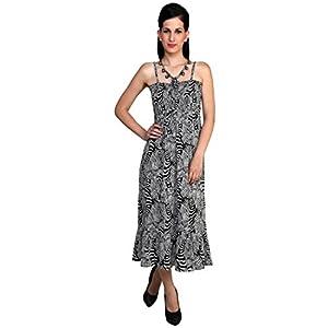 Black Printed Maxi Dress