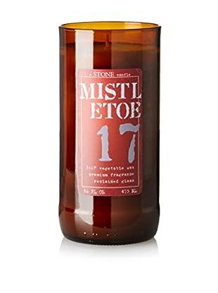 Stone Candles 16-Oz. Reclaimed Wine Bottle Candle, Mistletoe
