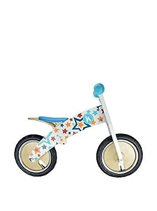 Kiddimoto Laufrad Kurve Premium Laufrad Stars weiß/mehrfarbig