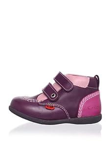 Kickers Kid's Babykick 1 Boot (Infant/Toddler) (Burgundy/Pink)