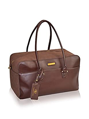 Adrienne Vittadini Faux Suede 22'' Duffle, Brown