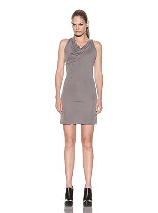 Improvd Women's Sleeveless Cowl Neck Dress (Light Grey)