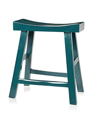 Royola Pacific Curve Up Stool (Peacock Teal)