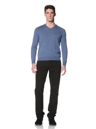 Cullen Men's V-Neck Sweater (Storm Blue)