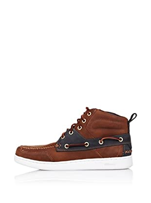 Sebago Zapato Botines Con Pasalazos (Marrón Claro)