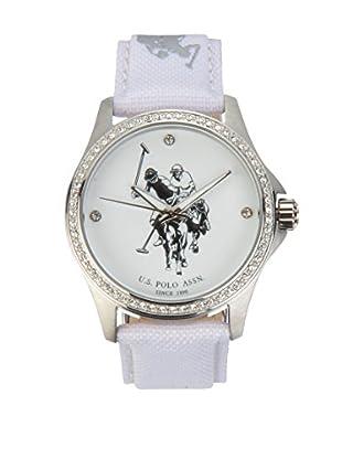 U.S. POLO ASSN. Uhr mit japanischem Quarzuhrwerk Kelya weiß 38 mm